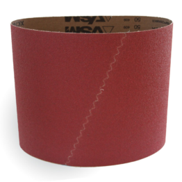 Red Ceramic sanding belt for sanding machine