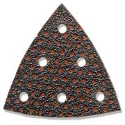 Triangular shaped disc with six holes
